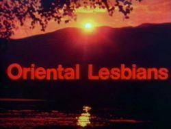 Expo Film Oriental Lesbians poster