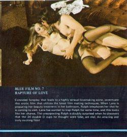 Blue Movie Film 7 Rapture Of Love poster
