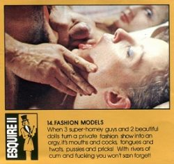 Esquire 14 The Fashion Models small poster