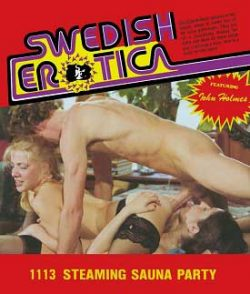 Swedish Erotica 1113 Steaming Sauna Party small poster