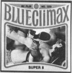 Blue Climax 1233 Shaven Charms back and white poster
