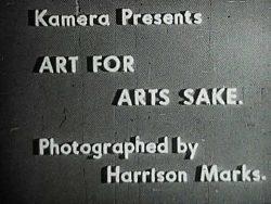 Kamera 1 Art For Arts Sake poster